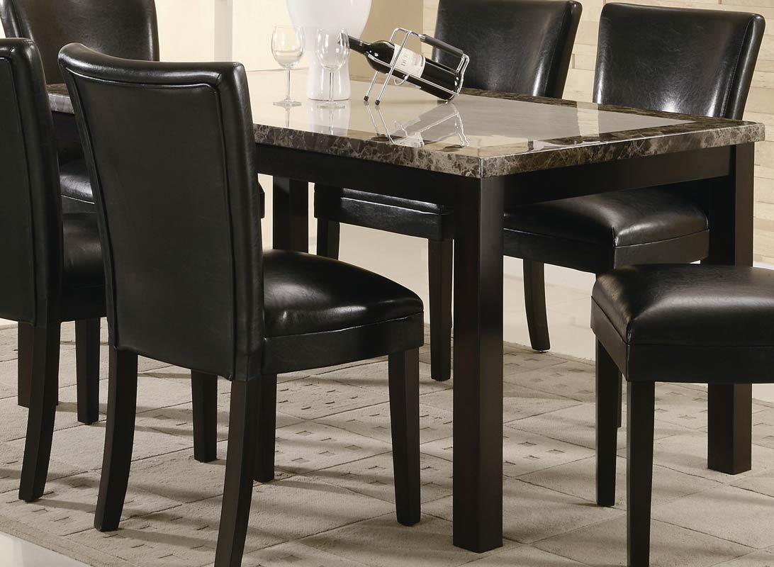coaster carter rectangular marble dining table 102260 at. Black Bedroom Furniture Sets. Home Design Ideas