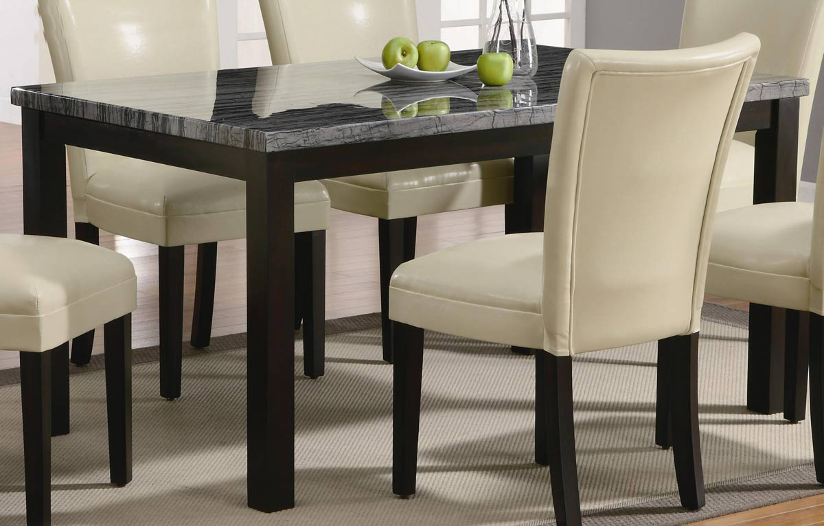 Coaster Carter 102261 Rectangular Marble Dining Set