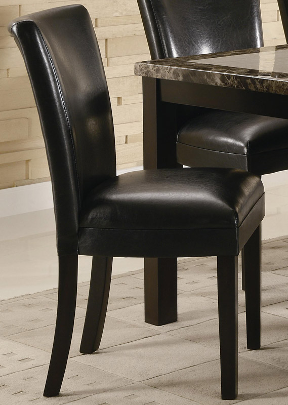 Carter Upholstered Dining Side Chair - Black - Coaster