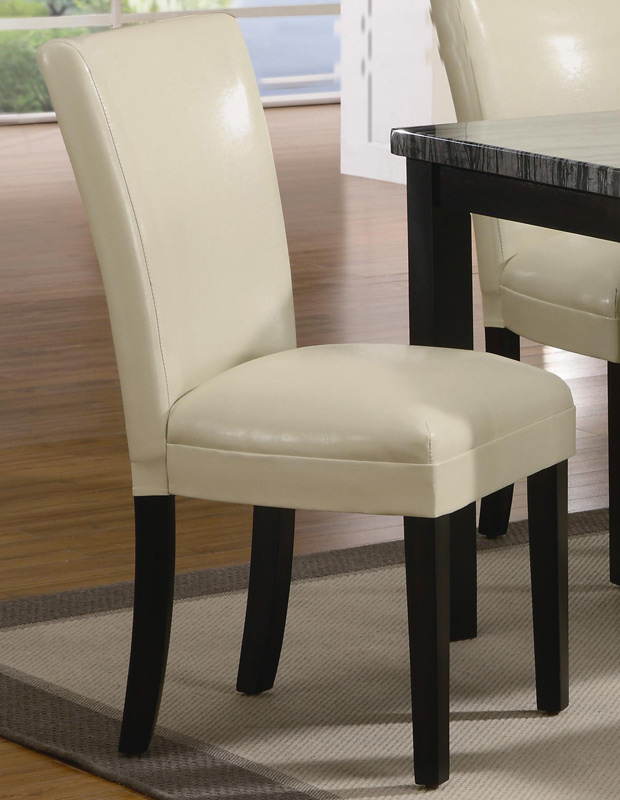 Coaster carter upholstered dining side chair cream for Cream upholstered dining chairs