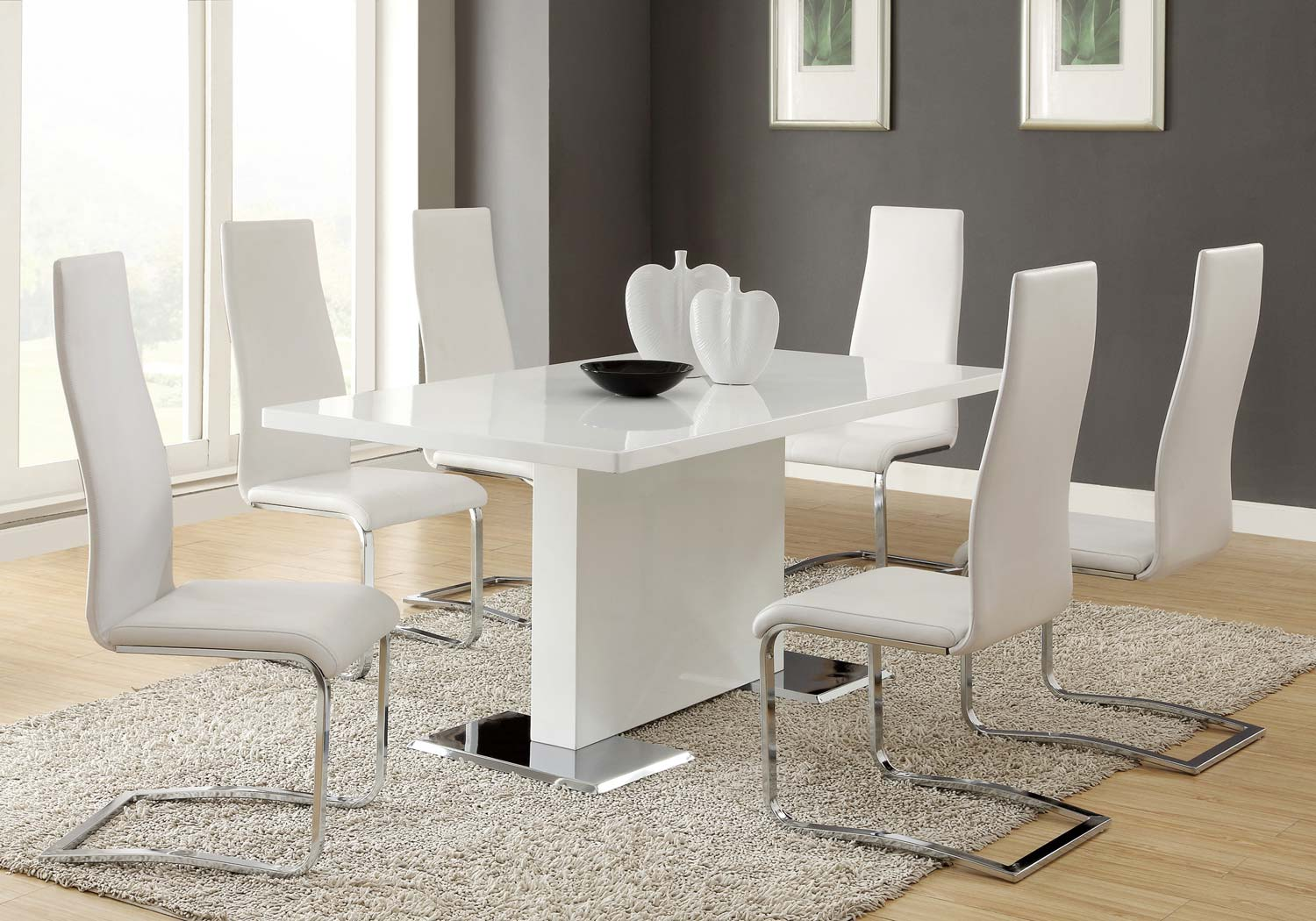 Coaster Mix & Match White Dining Set - White Chair