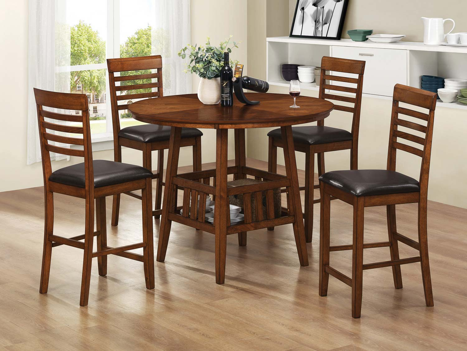 Coaster Knoxville Counter Height Dining Set - Oak