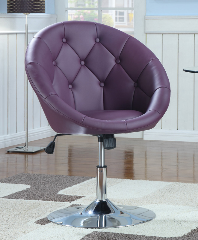 Coaster 10258X Swivel Chair - Purple
