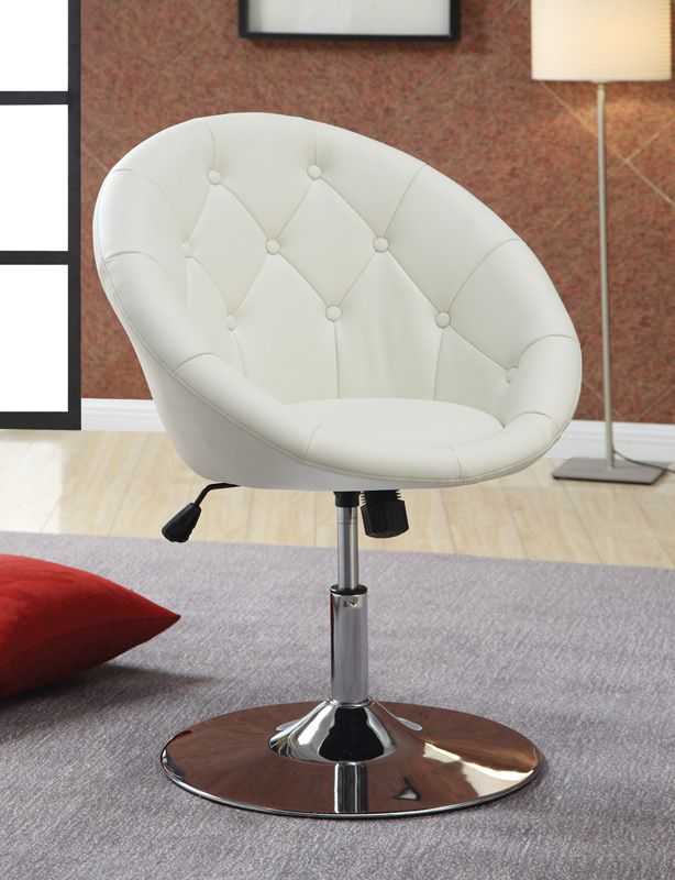 Coaster 10258X Swivel Chair - White