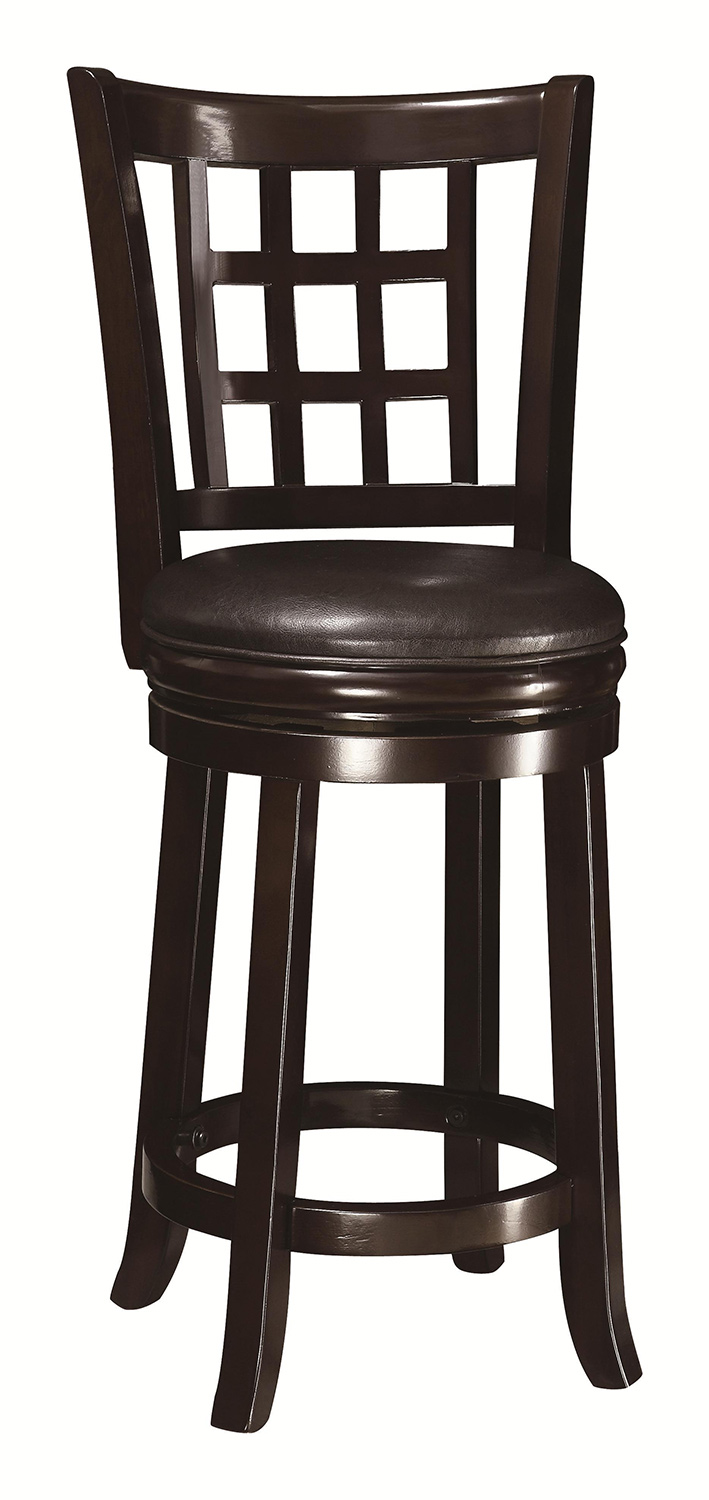 Coaster 24 inch wooden bar stool espresso 102649 at for 24 inch bar stools