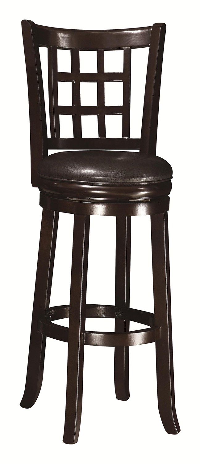 Coaster 29 Inch Wooden Bar Stool Espresso 102650 At