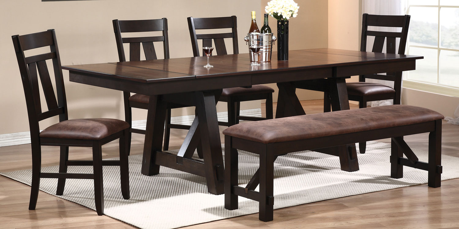 Coaster Bunker Dining Set - Rustic Brown/Black