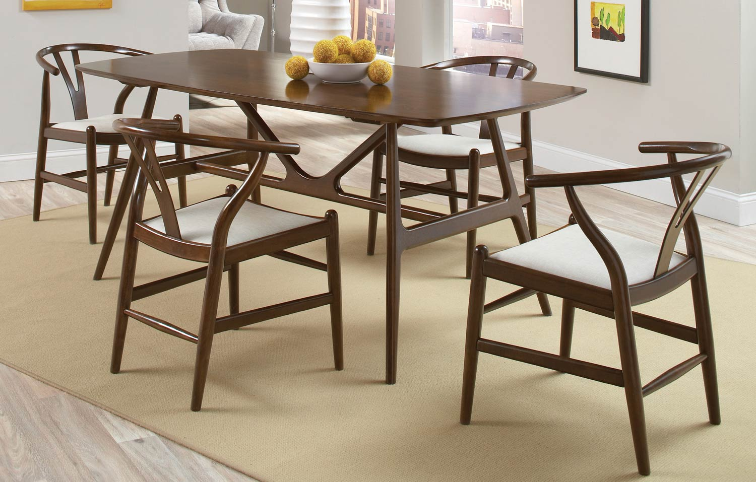 Coaster Kersey 102851 Dining Set - Chestnut