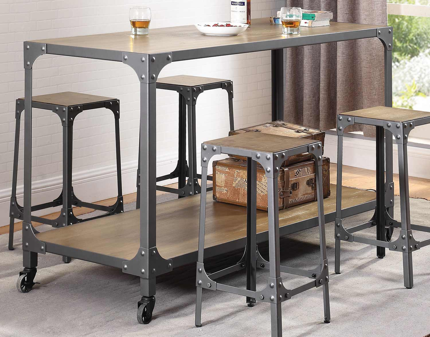 Coaster 102998 Kitchen Island - Rustic Light Brown