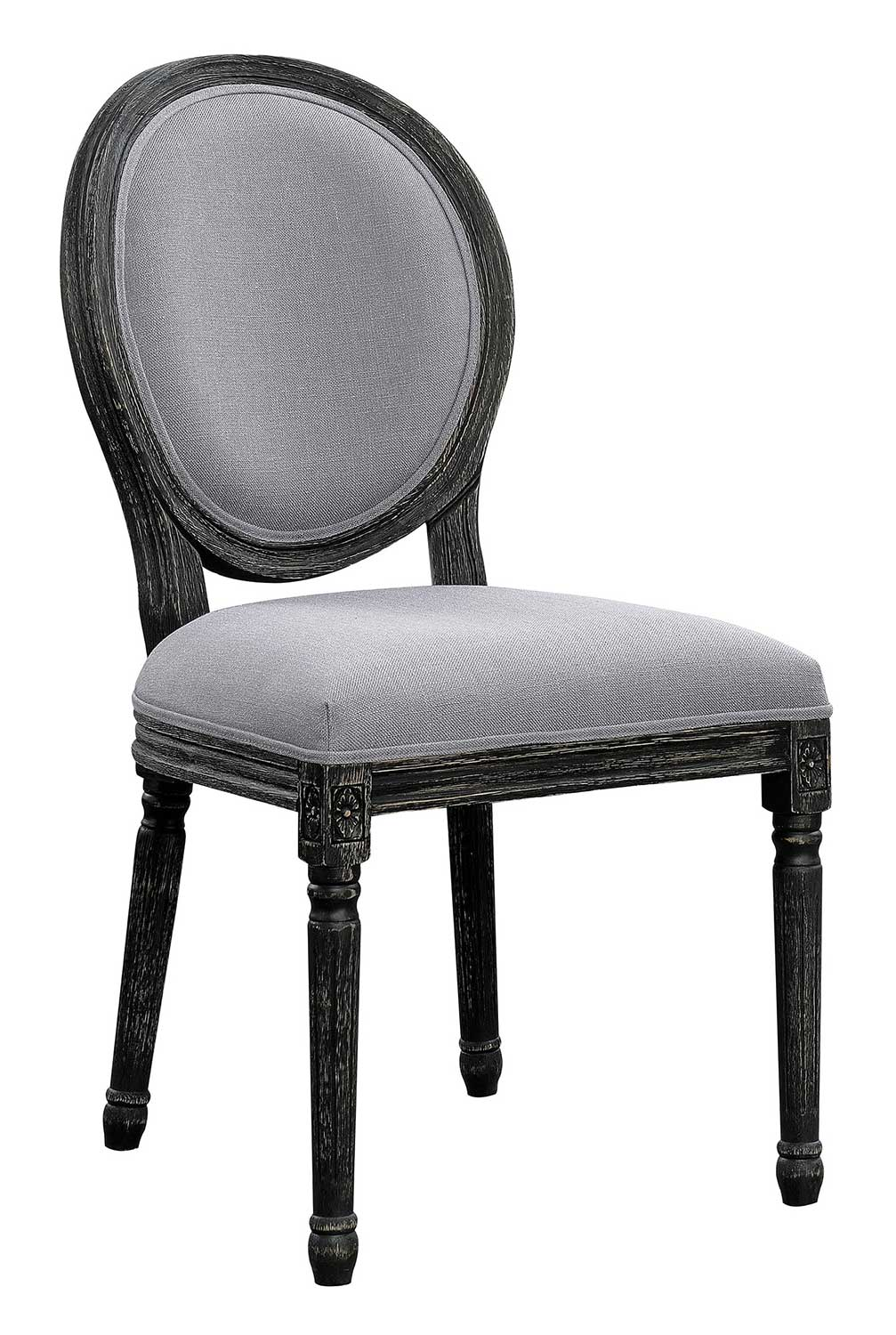 Coaster Dayton Side Chair - Antique Black/Grey