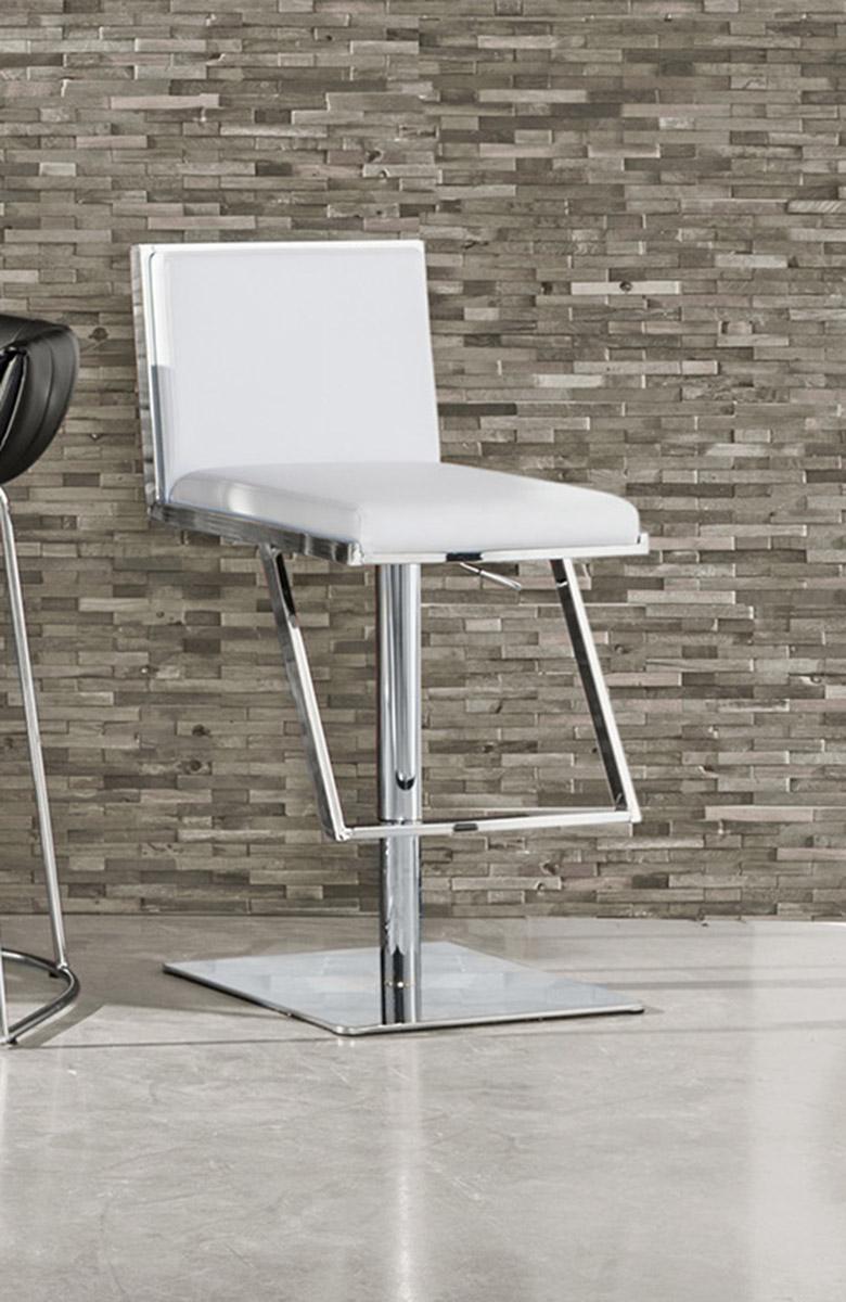 Coaster Dixon Adjustable Bar Stool - White