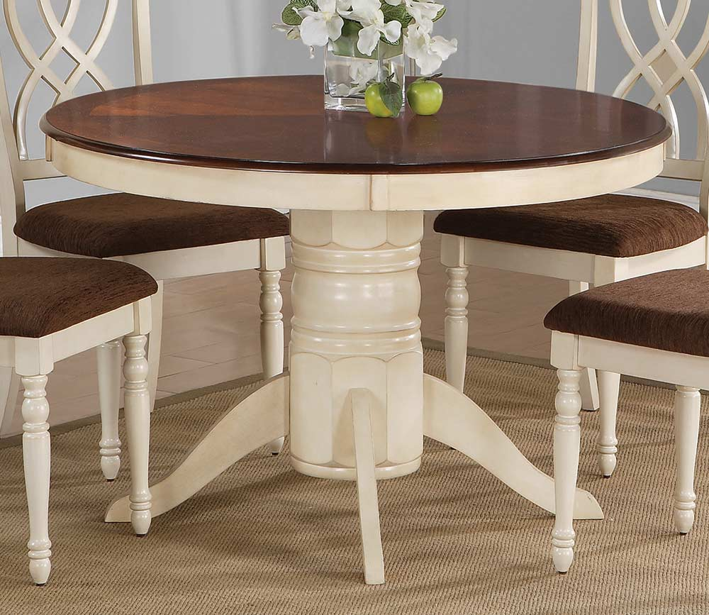 coaster cameron round dining table at homelement