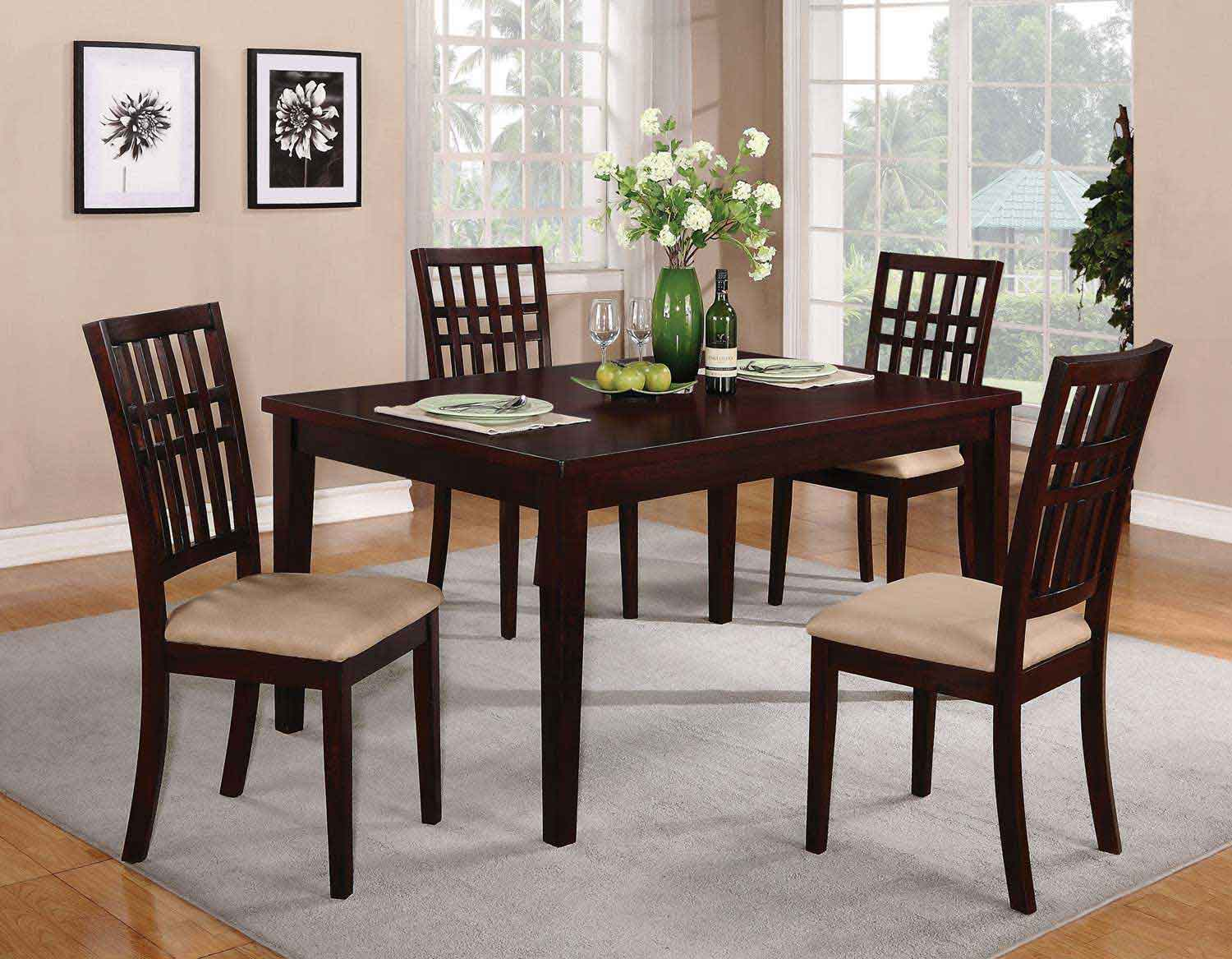 Coaster 103341 Dining Set - Dark Cherry