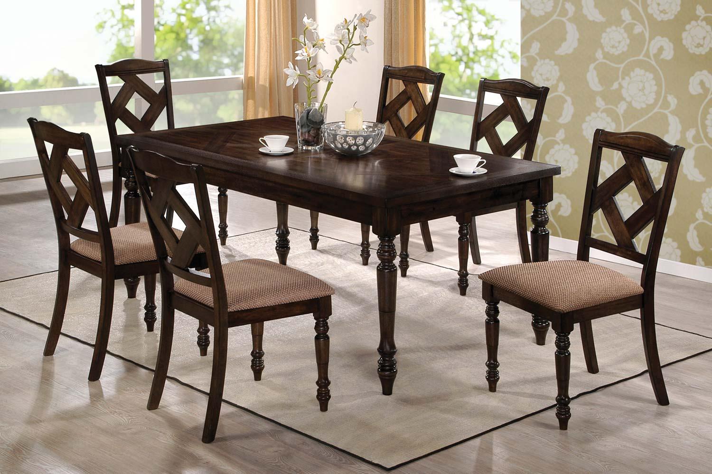 Coaster 103381 Dining Set - Brown Ash