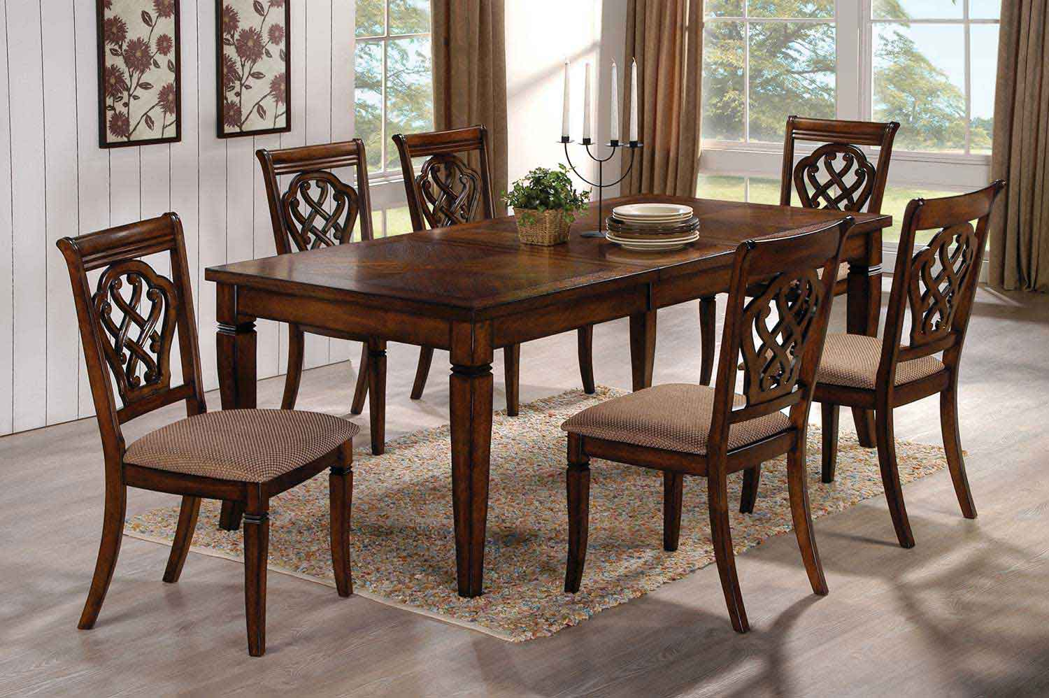 coaster hayden dining set oak 103391 dinset at. Black Bedroom Furniture Sets. Home Design Ideas