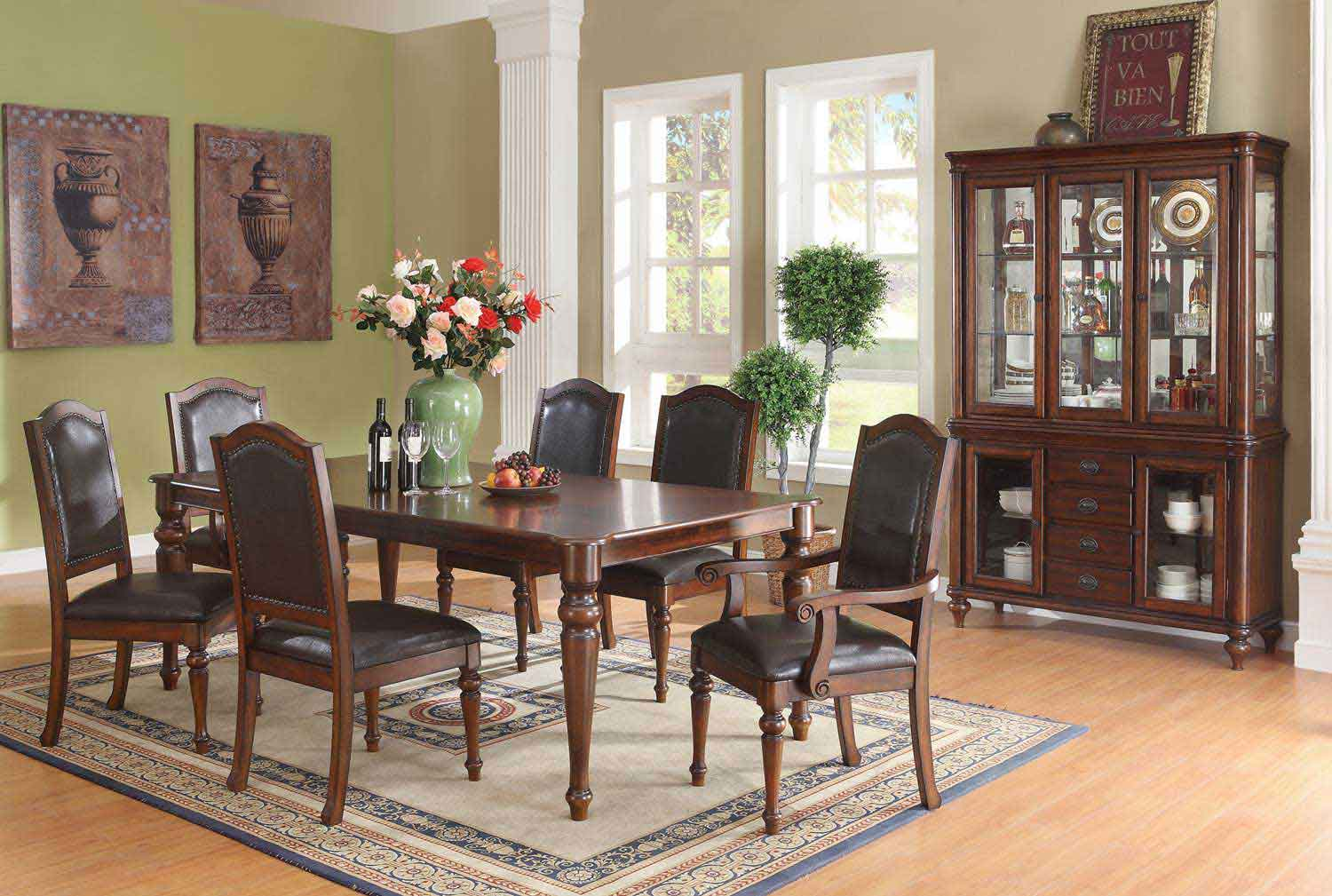 Coaster Anson Dining Set - Rich Brown
