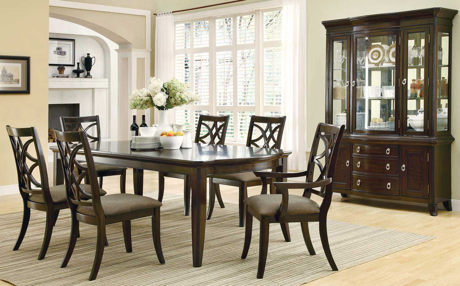 Attractive Coaster Meredith Dining Set   Espresso