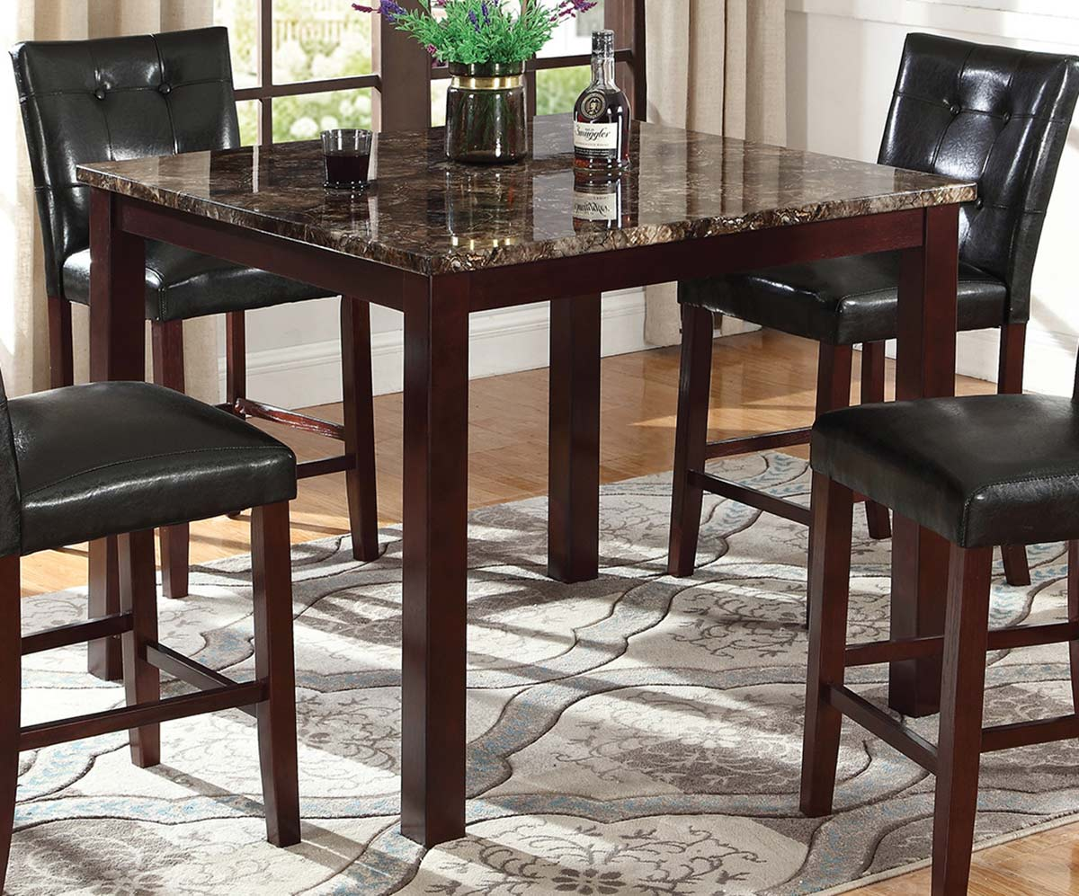 Coaster Ducey Counter Height Table - Dark Brown