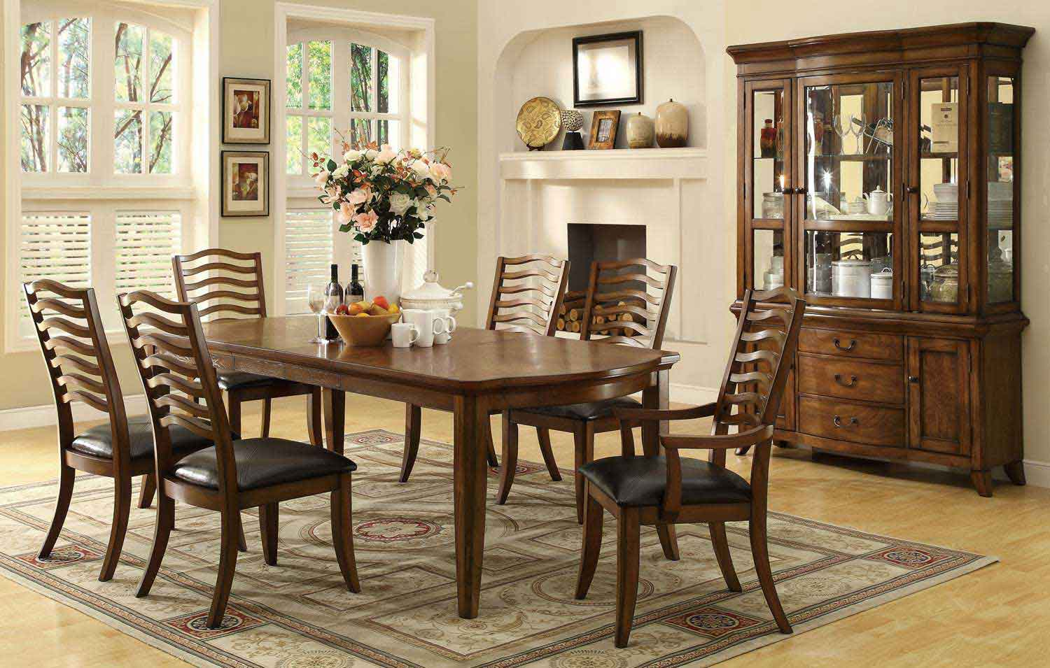quality coaster 103541 dinset avery dining set brown oak at best