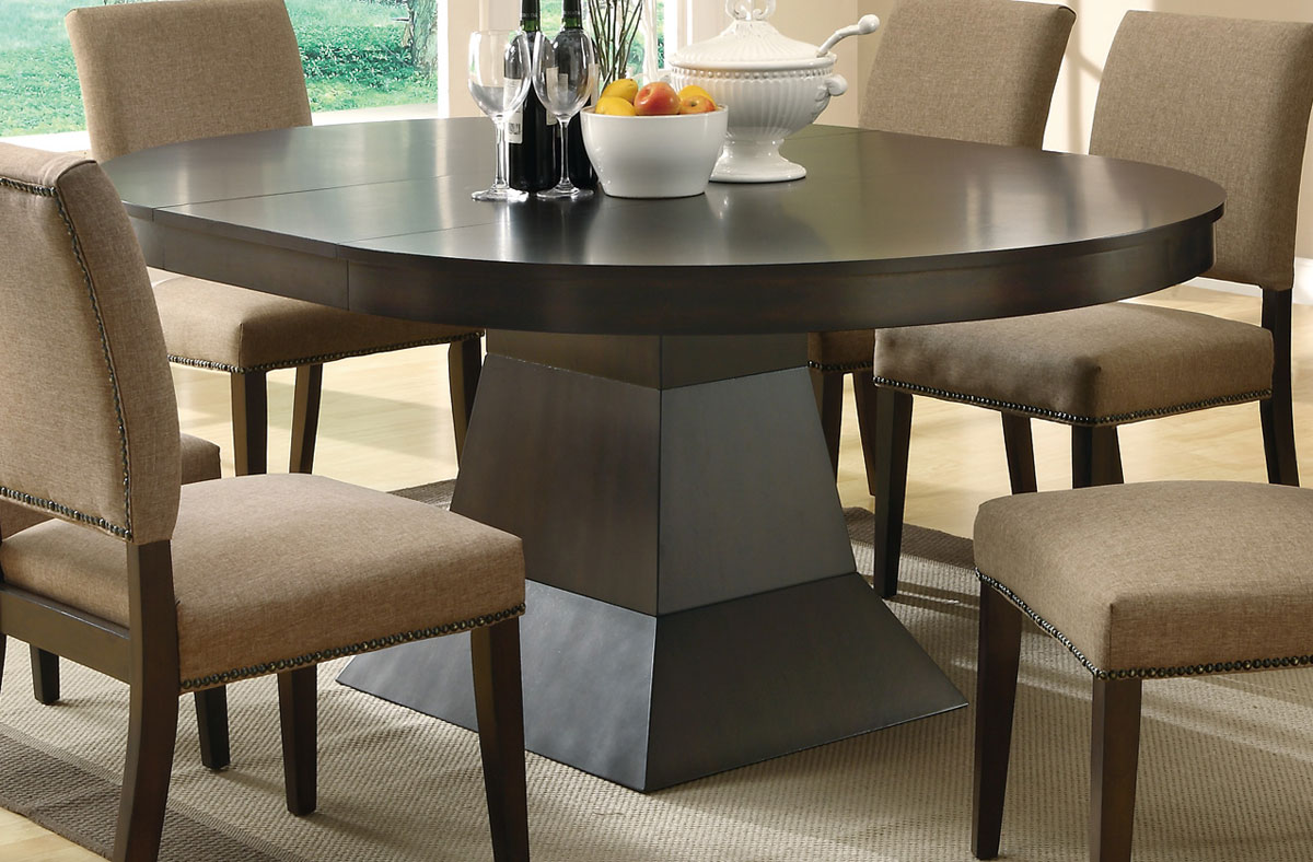 Coaster Myrtle Pedestal Dining Table 103571 At Homelement Com
