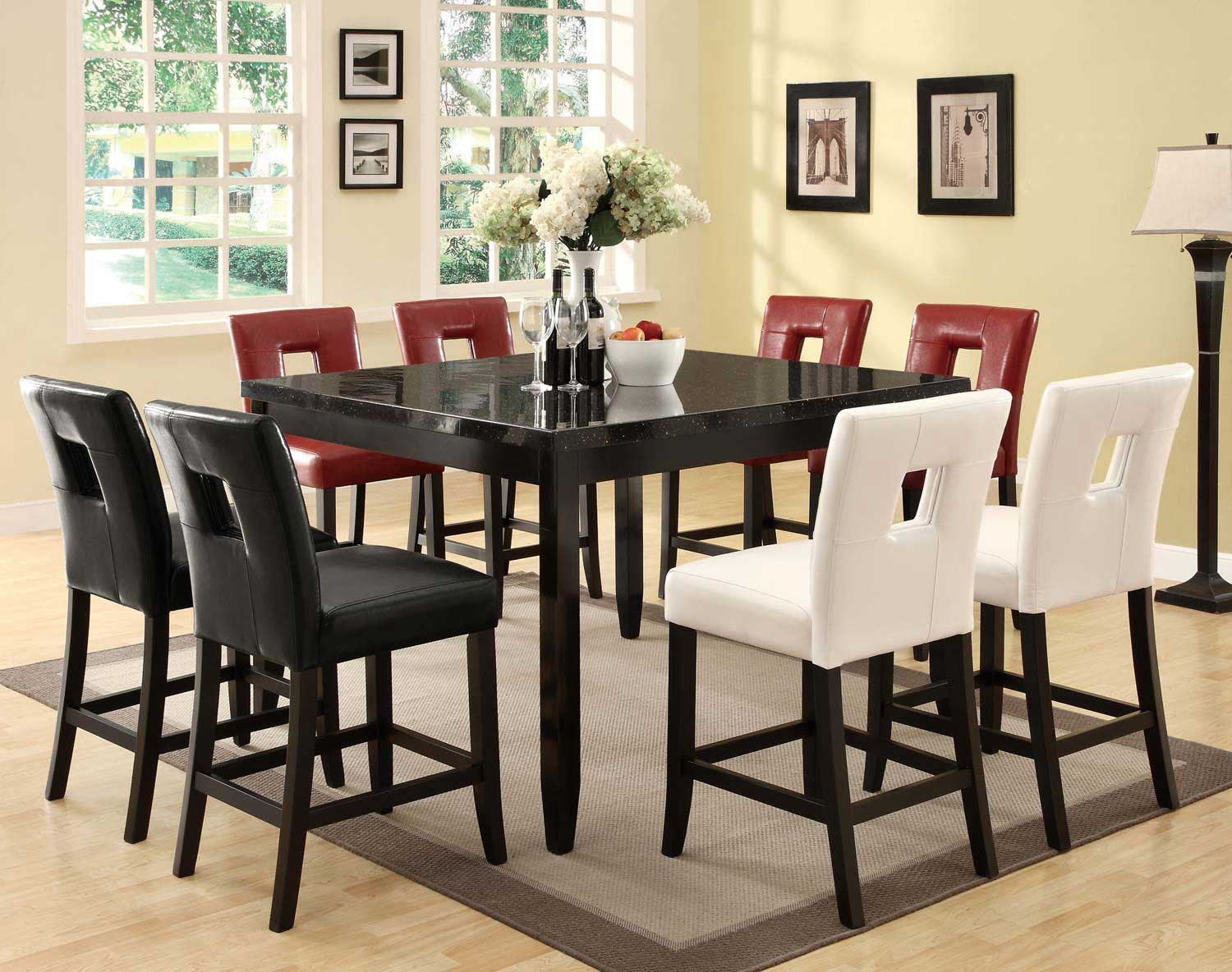 Coaster Newbridge Counter Height Dining Set - Cappuccino