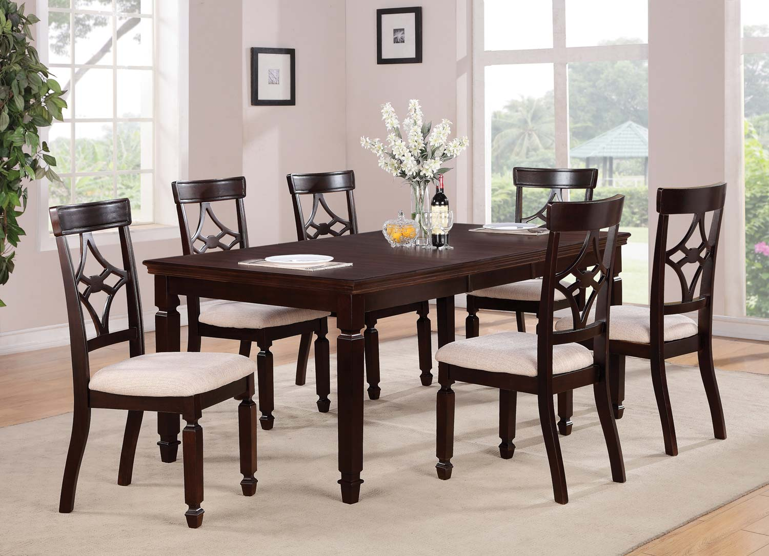 Coaster Maude Rectangular Dining Set - Cappuccino