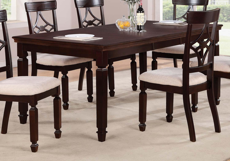 Coaster Maude Rectangular Dining Table - Cappuccino