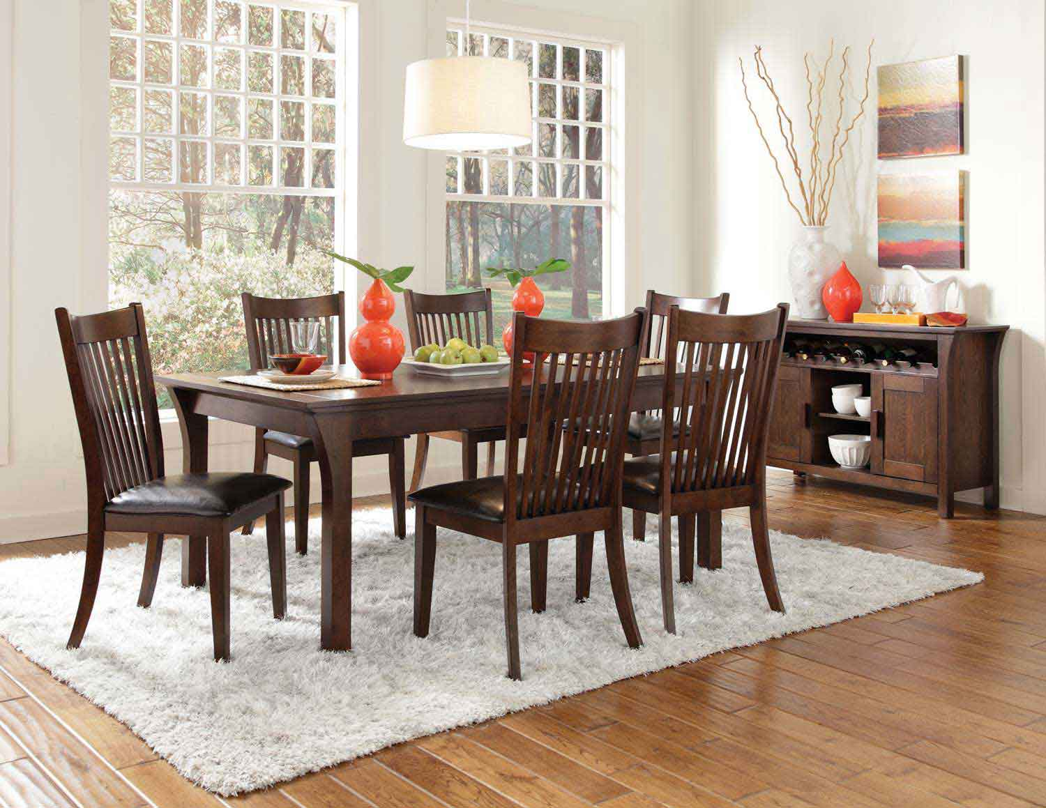 Coaster Rivera Dining Set - Dark Merlot