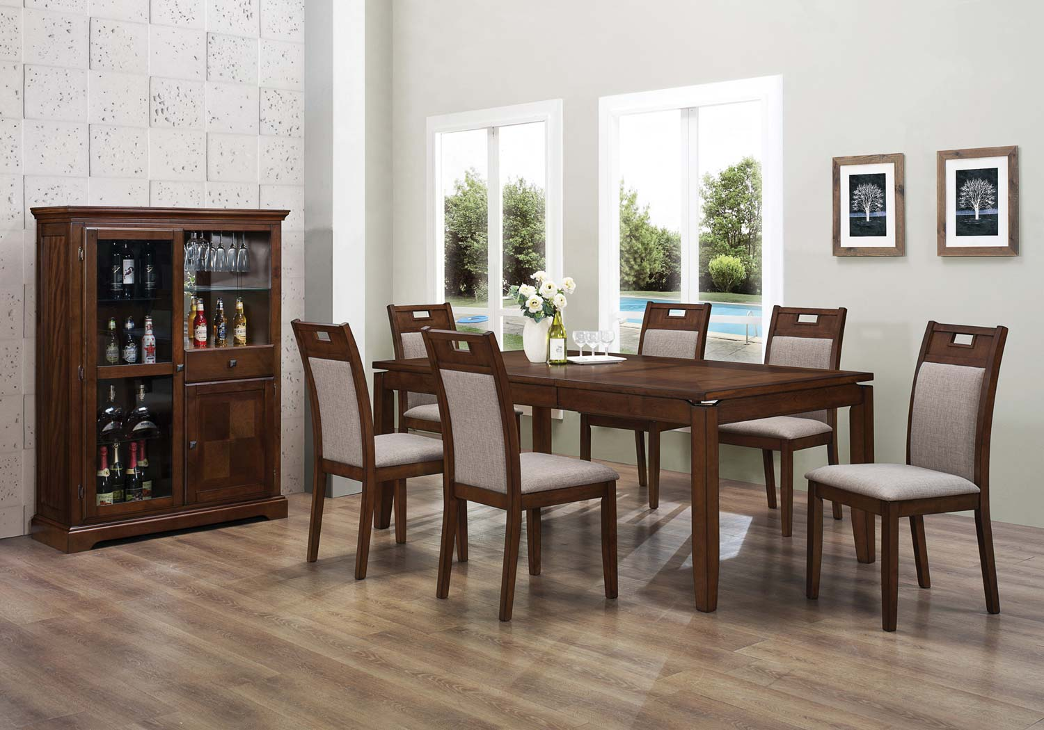 Coaster Warren Dining Set - Walnut