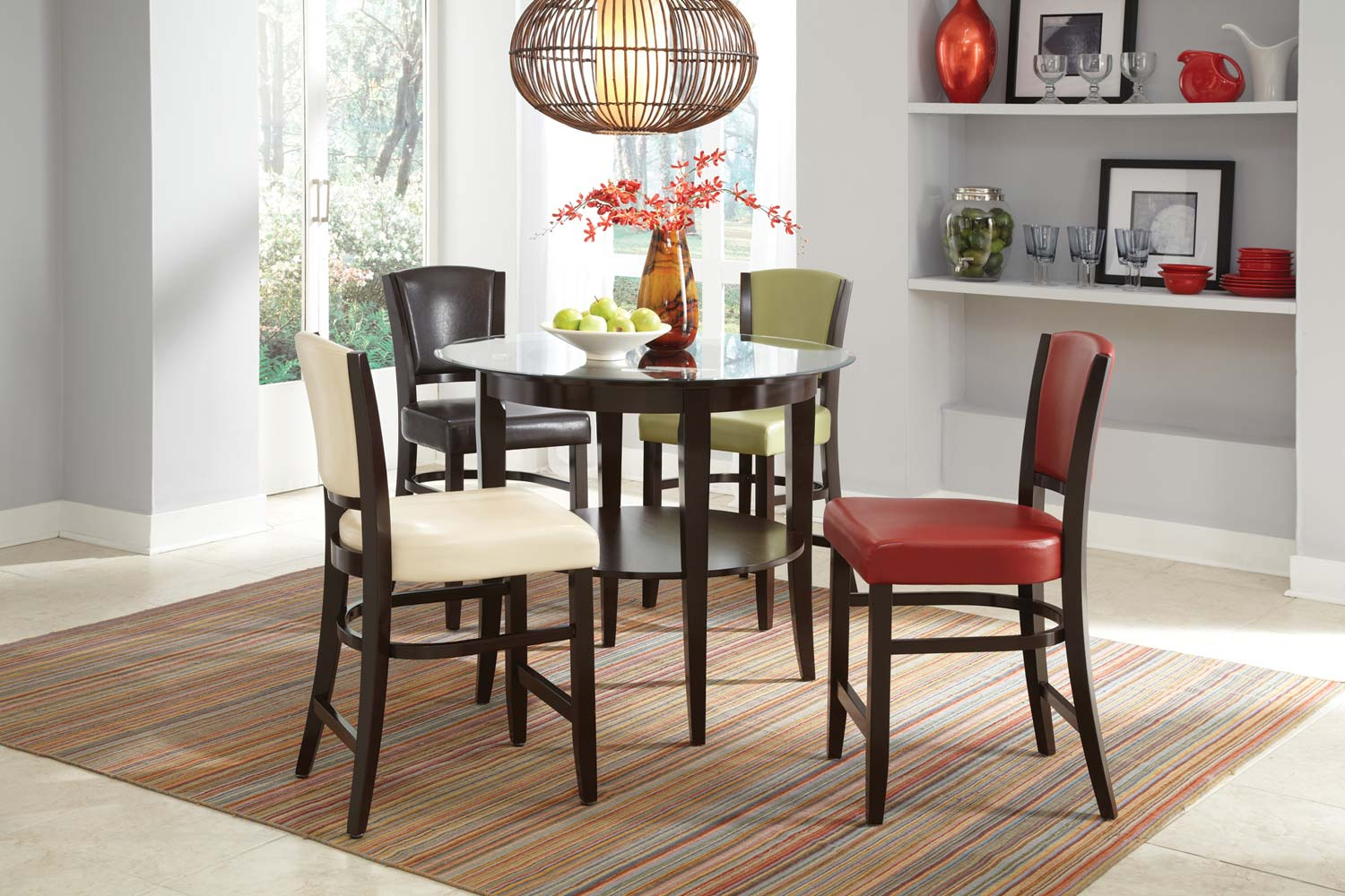 Coaster Mix Amp Match Counter Height Dining Set Espresso