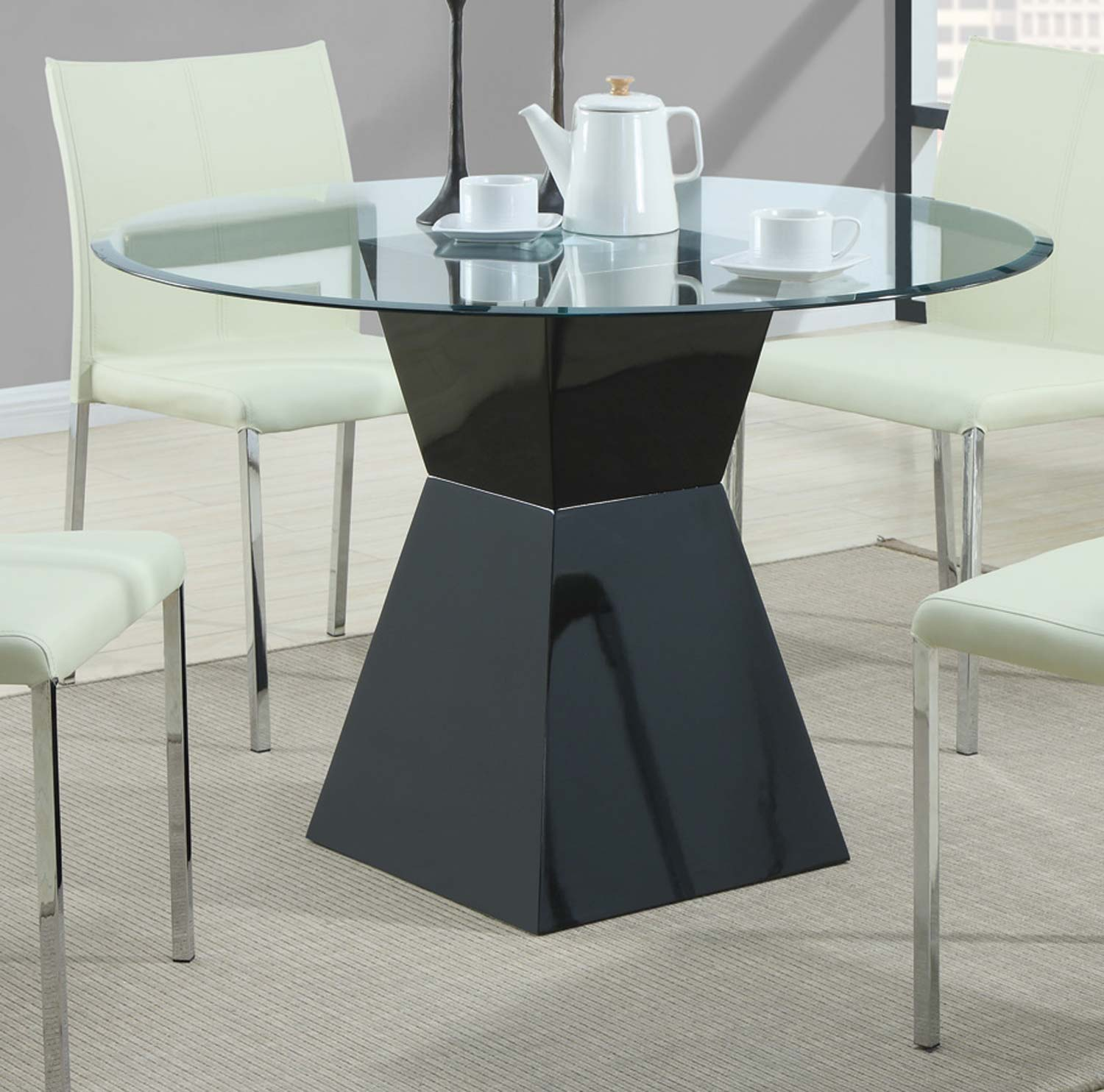 Coaster 103731 Round Glass Dining Table
