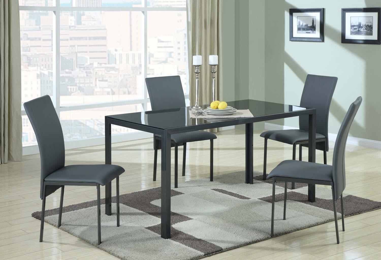 Coaster 103741 Glass Top Dining Set