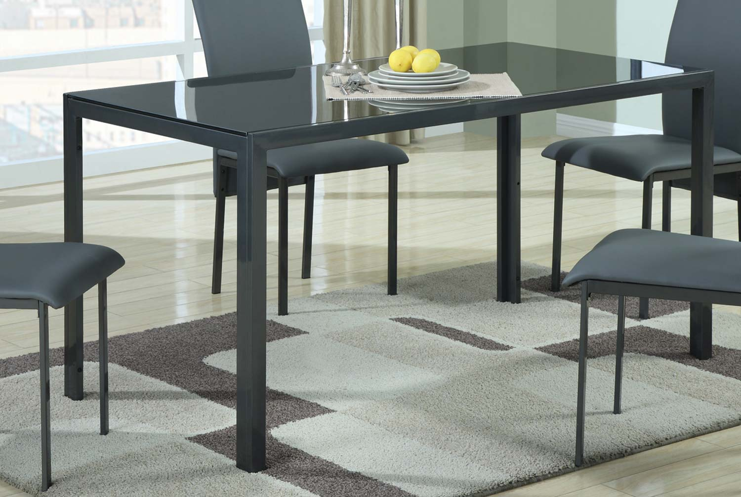 Coaster 103741 Glass Top Dining Table 103741