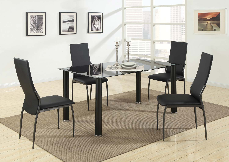 Coaster 103751 Glass Top Dining Set