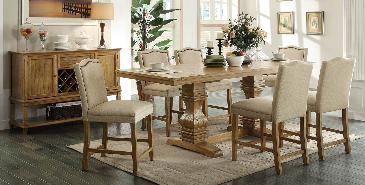 Coaster Parkins Counter Height Dining Set - Coffee