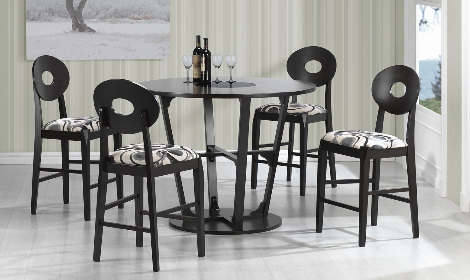 Coaster Gregory Counter Height Dining Set - Cappuccino