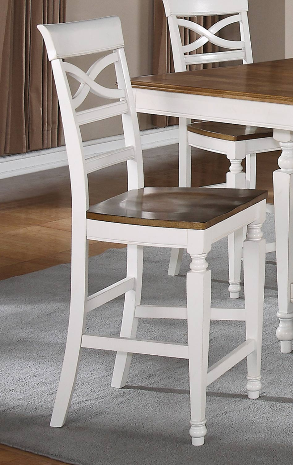 Coaster Ashley Counter Stool   Oak   Antique White