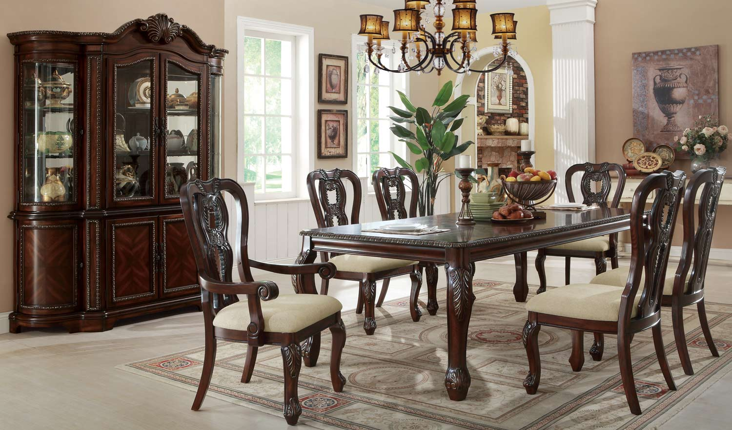 Coaster Alexander Dining Set - Cherry