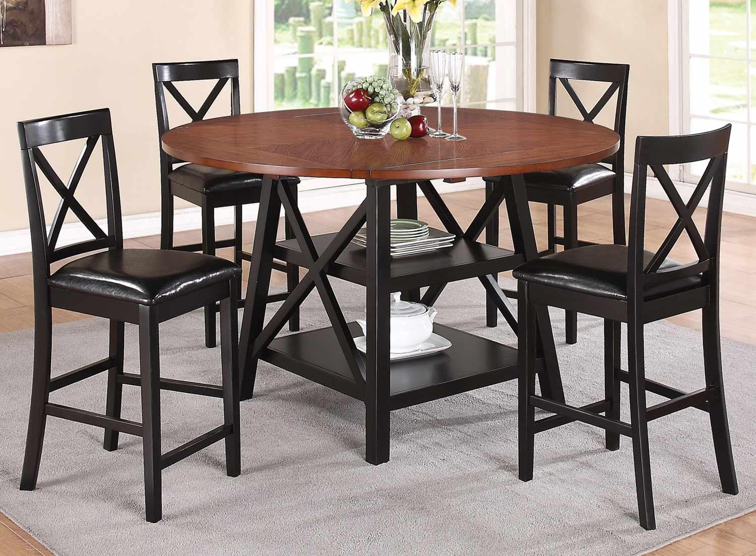 Counter Height Rustic Dining Sets : Austin Counter Height Dining Set - Rustic Oak/Black 104178-Pub-Set ...