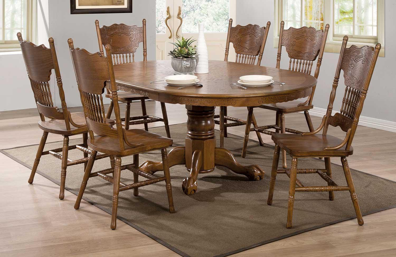 Coaster Brooks Dining Set - Oak