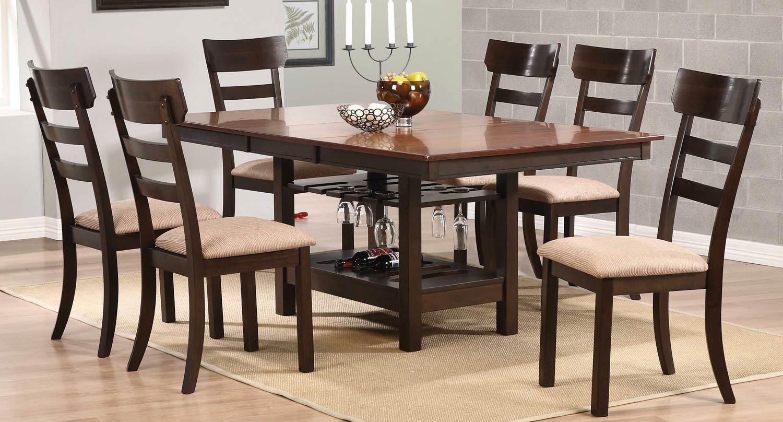 Coaster Greenbury Dining Set - Golden Brown/Coffee