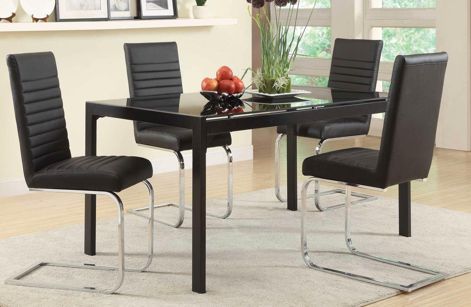 Coaster Jenson Dining Set - Black