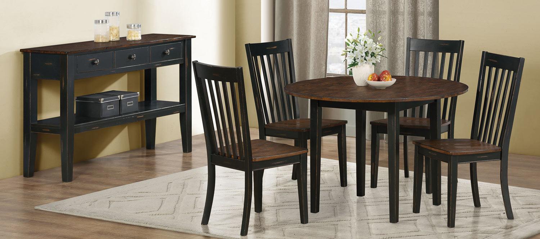 Coaster Kyla Dining Set - Oak/ Black