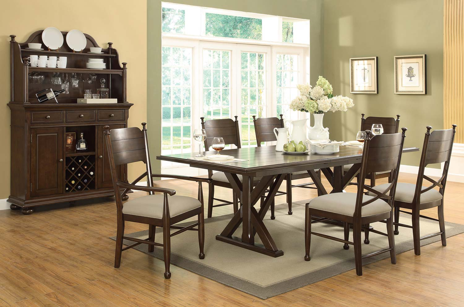 Coaster Camilla Dining Set - Brown Cherry