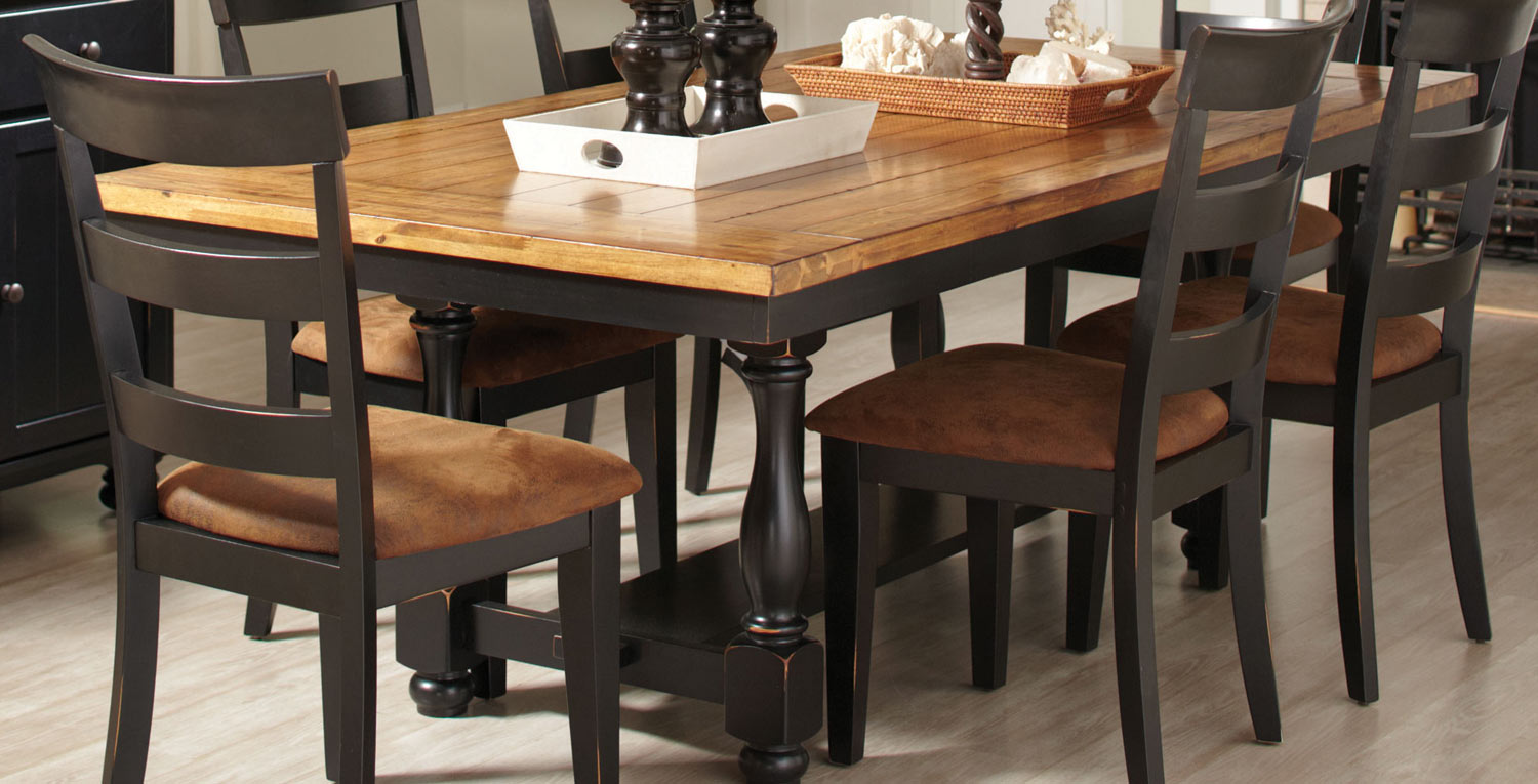 Coaster Charlotte Dining Table Oak Black 104611 At
