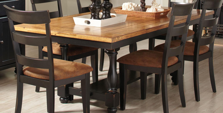 Coaster Charlotte Dining Table Oak Black 104611 At