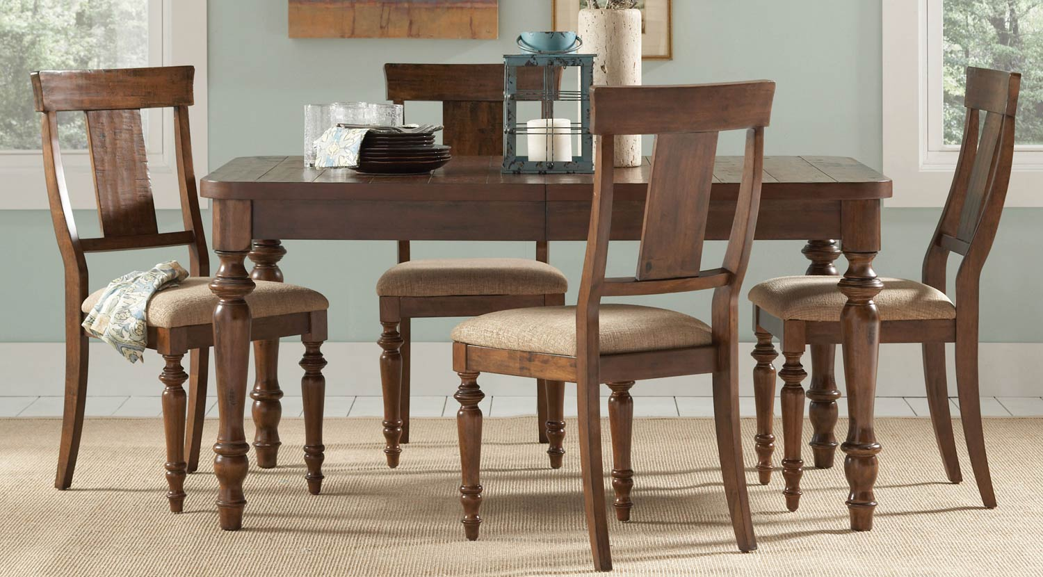 Coaster Jonas Dining Set - Rustic Brown