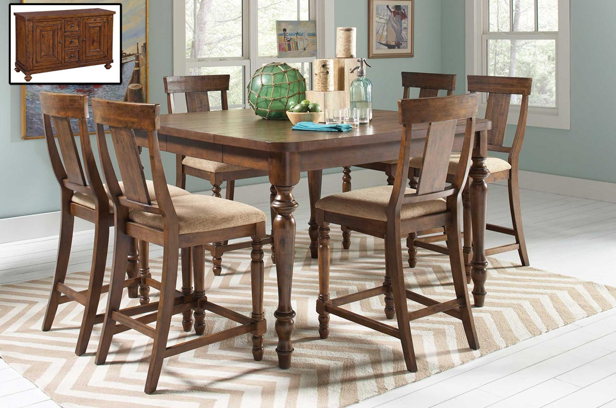 Coaster Jonas Counter Height Dining Set - Rustic Brown