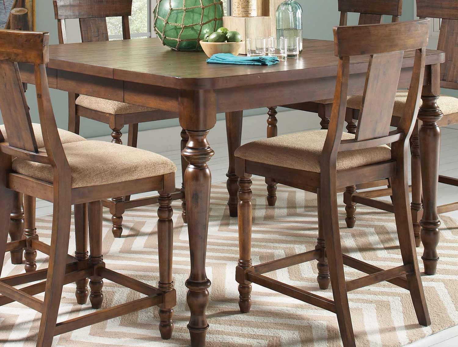 CO-104728 Jonas Counter Height Table - Rustic Brown, 36H x 54W x (36 ...