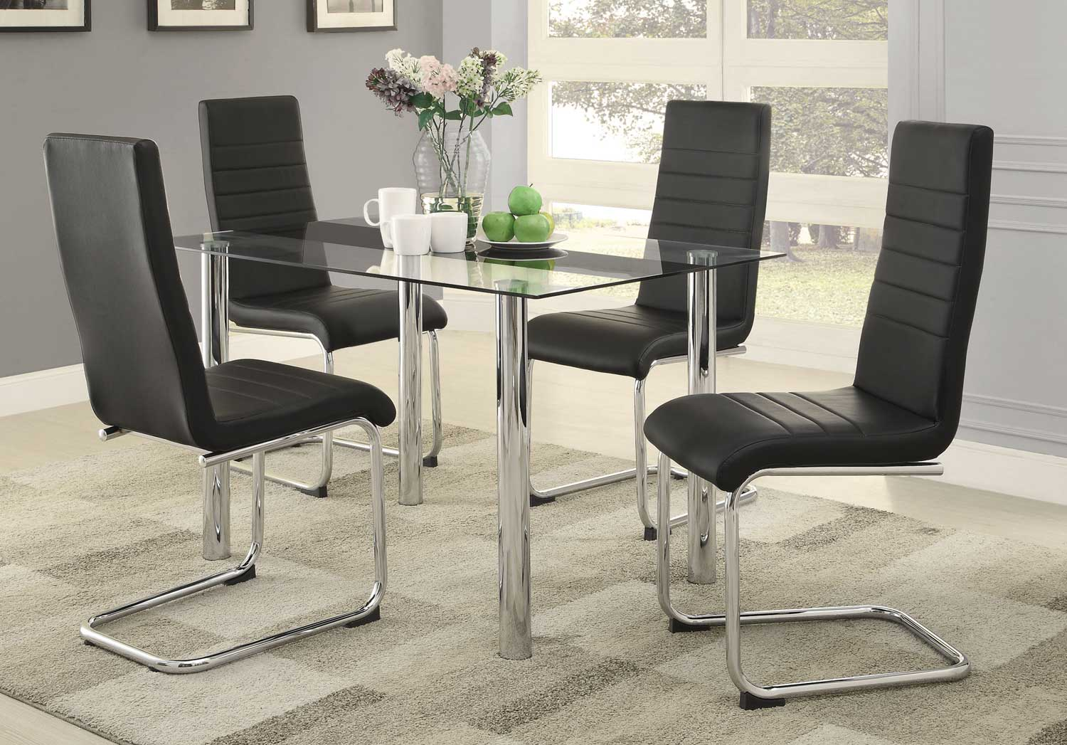 Coaster Evanston Dining Set - Polished Chrome